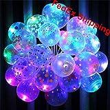 50Unidades) Pattern Holiday luz LED Up Globos -12pulgadas & dura 8–24horas por JCT Eco
