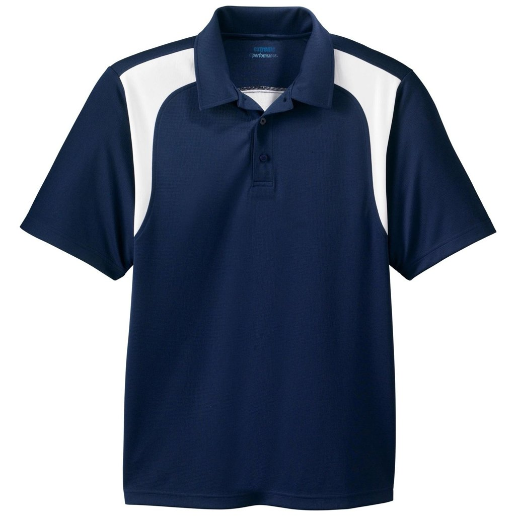 Ash City Mens E Performance Polo Shirt (XX-Large, Classic Navy/White) by Ash City Apparel