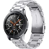 Kartice Compatible Samsung Galaxy Watch (46mm) Bands, 22mm Galaxy Watch Band Solid Stainless Steel Metal Replacement Bracelet Strap fit Samsung Galaxy Watch SM-R800 Smart Watch (46mm)-Silver
