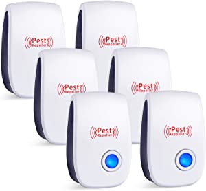 Ultrasonic Pest Repeller 6 Packs,Electronic Plug in Sonic Repellent pest Control for Insects Roaches Ant Mice Bugs Mouse Rodents Mosquitoes Spiders