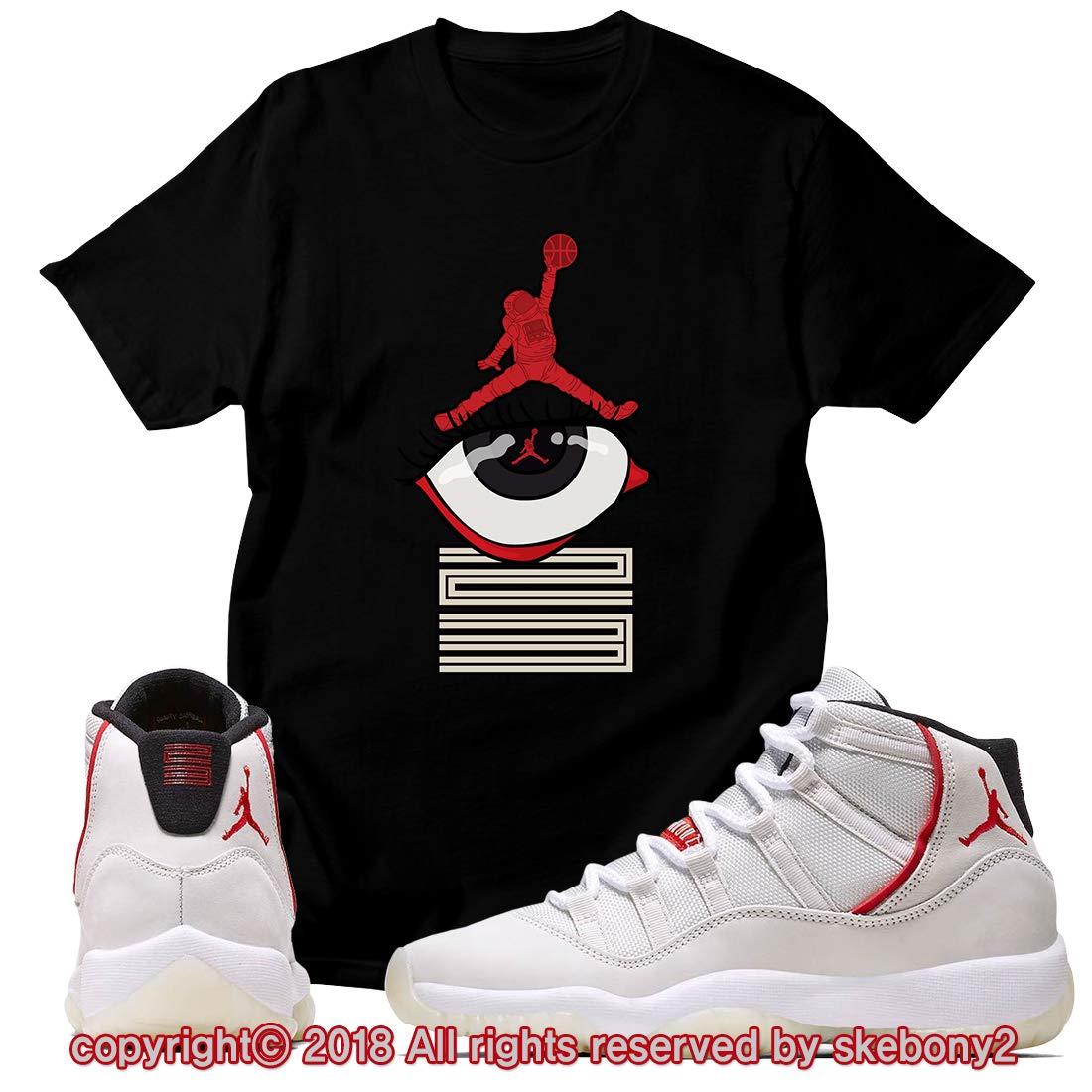 964d2764cdfea2 Custom T Shirt Matching Style of Air Jordan 11 Platinum Tint JD 11-4-2-6 at  Amazon Men s Clothing store
