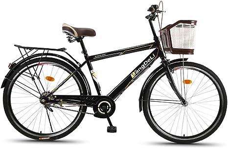 MLSH Bicicleta for Hombre de 26 Pulgadas, Bicicleta de cercanías ...