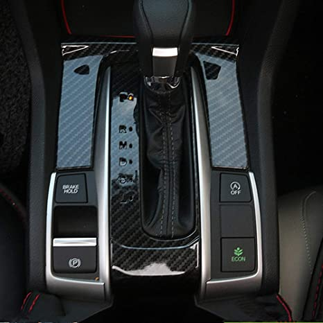 Amazon com: Kadore ABS Carbon Fiber Interior Shift Gear Panel Cover