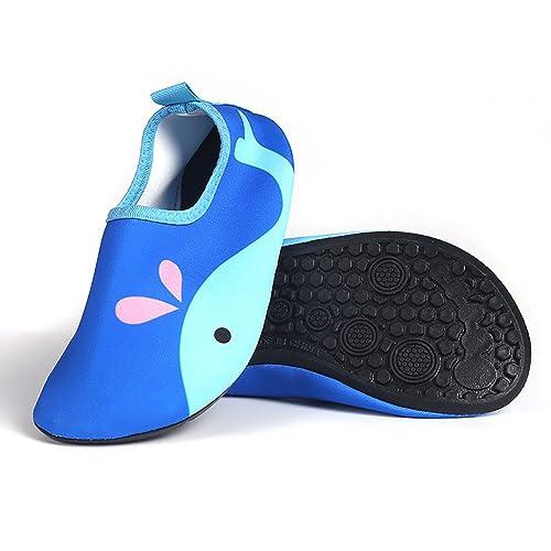 Beito Zapatos Ligeros para niños Calcetines de Secado rápido para Piscina Playa 1 par Ballena Azul
