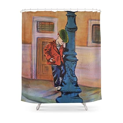 Society6 Singing In The Rain Early Years Shower Curtain 71quot