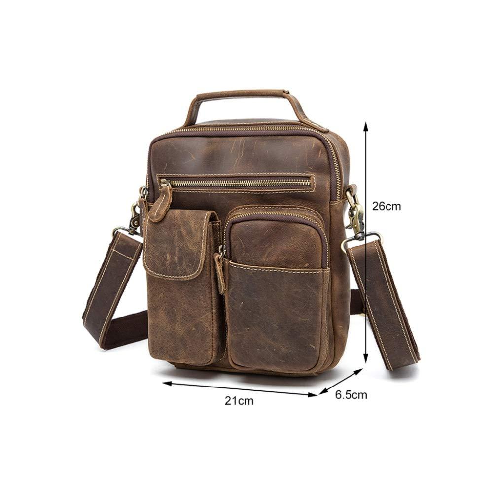 Sxuefang Mens Shoulder Bag Mens Messenger Bag Leather Mens Bag Retro Mens Shoulder Crossbody Bag 36x6.5x21cm