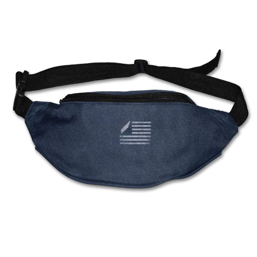 Spanwell Ennessee State United States Flag Adjustable Belt Waist Pack Waist Bag Running Pack Walking For Men Women