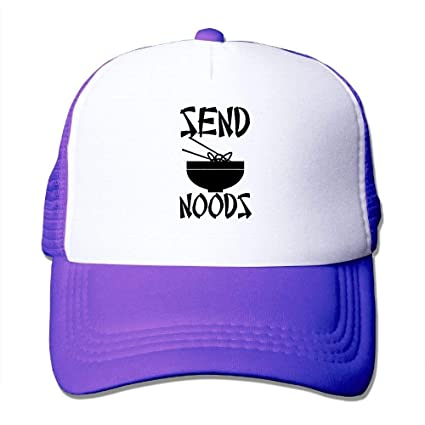 d431875ba0907 Amazon.com  Custom Classic Adult Send Noods - Noodles Nudes Pun Meme Summer  Hats Purple