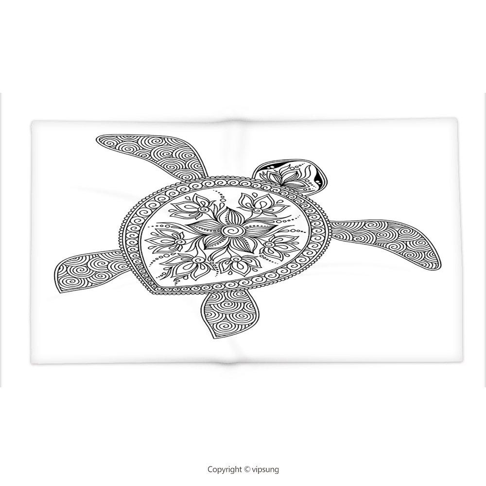 vipsung Manta Tortuga por artística Tortuga Figura Henna Mehndi ...