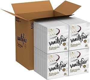 Vanity Fair Entertain Dinner Napkins, 960 Count Paper Napkins, 40 Count (Pack of 24)
