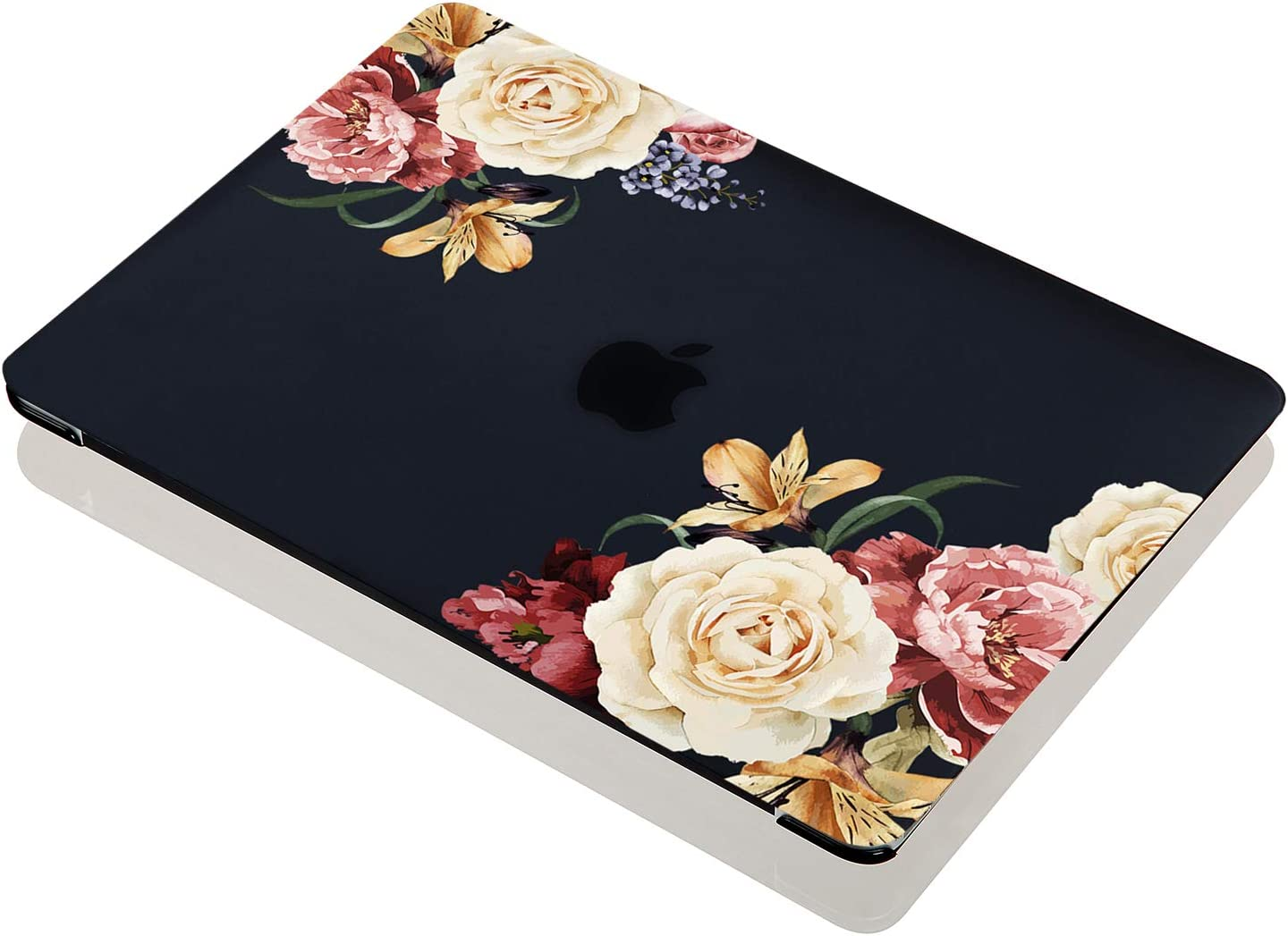 A1932, 2018-2019 Release Rubber Coated Soft Touch Hard Case Only Compatible MacBook Air 13.3 with Retina Display /& Touch ID EkuaBot Black Peony MacBook Air 13 inch Case /& Keyboard Cover