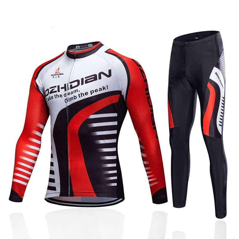 JDDRCASE Fashion Classic Outdoor Bicycles All Kinds of Autumn Cycling Long Sleeve Suit