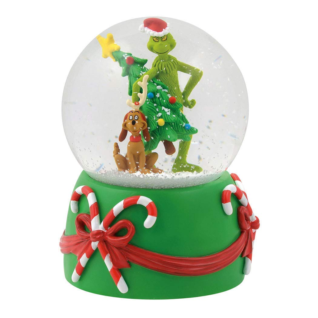 Department 56 Grinch Stealing Tree Musical Waterball, 5.5'' Snowglobe, Multicolor