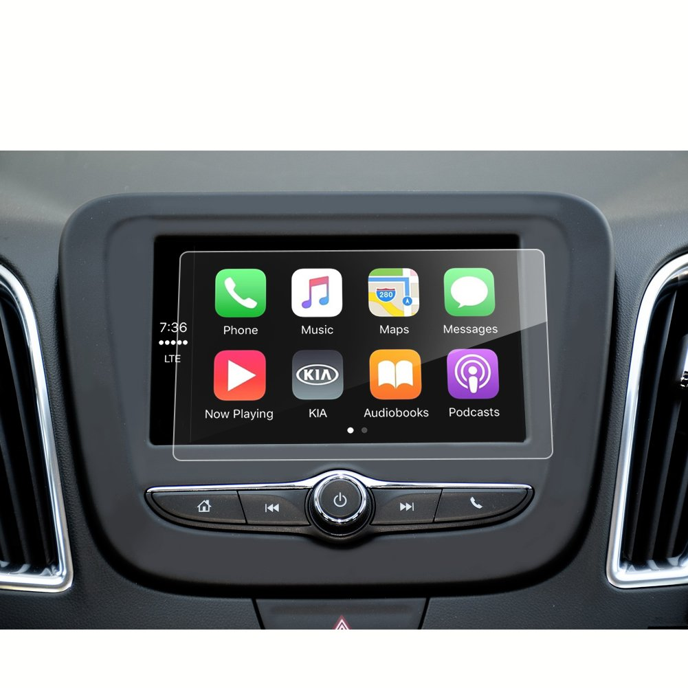 Upgrade 2018 Chevrolet Equinox 8 Inch Car Navigation Screen Protector Glass,Tempered Glass Infotainment Display in-Dash Media Center Touch Screen Protector Scratch-Resistant LiFan Chevy Malibu Volt Equinox 8-Inch