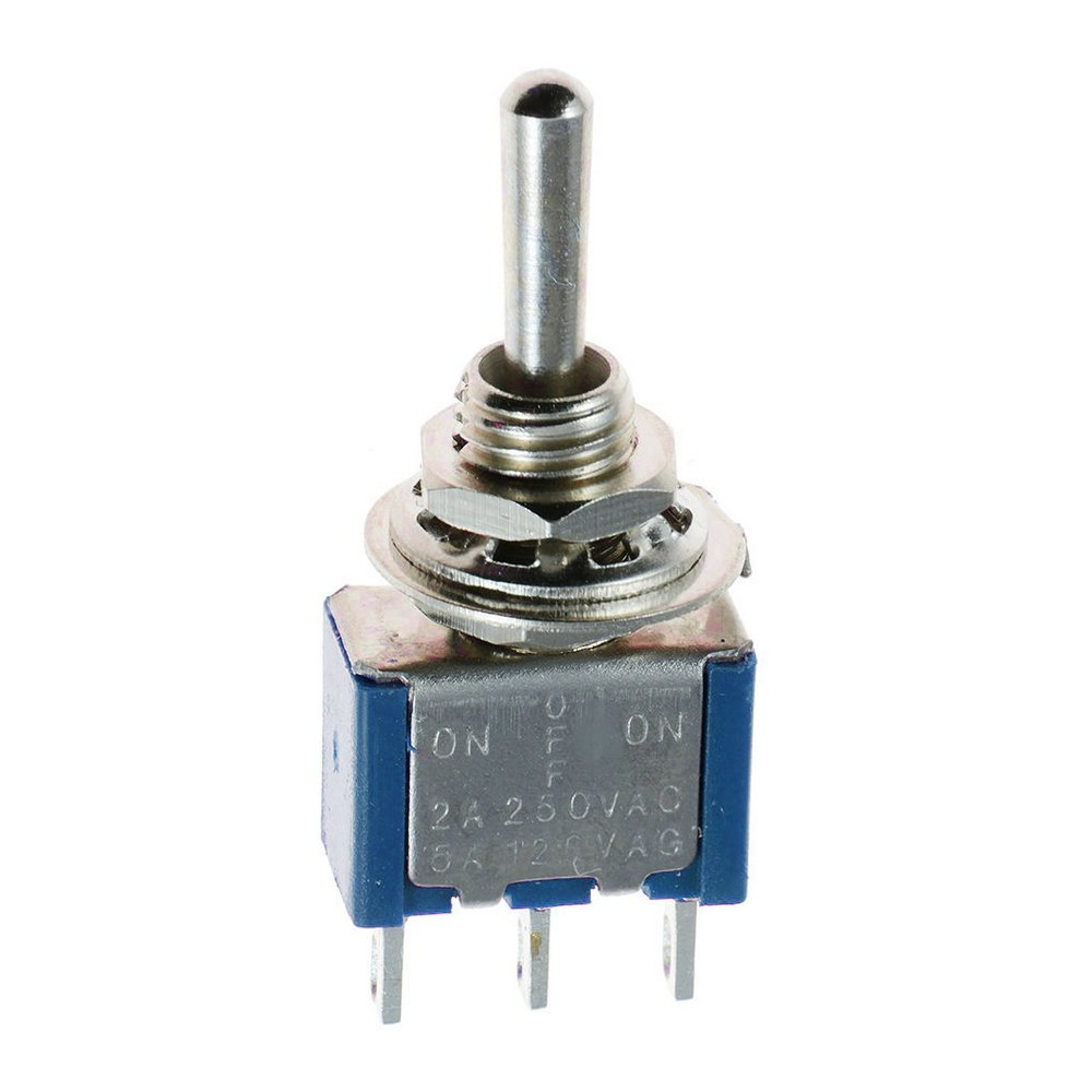 Mintice/™ 10 X On//Off//On Momentary Mini Miniature Toggle Switch Car Dash Dashboard SPDT 3Pin Blue