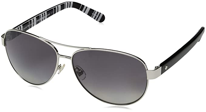 6598b77203d3 Image Unavailable. Image not available for. Color: Kate Spade Women's Dalia2 /p/s Polarized Rectangular Sunglasses, Silver ...