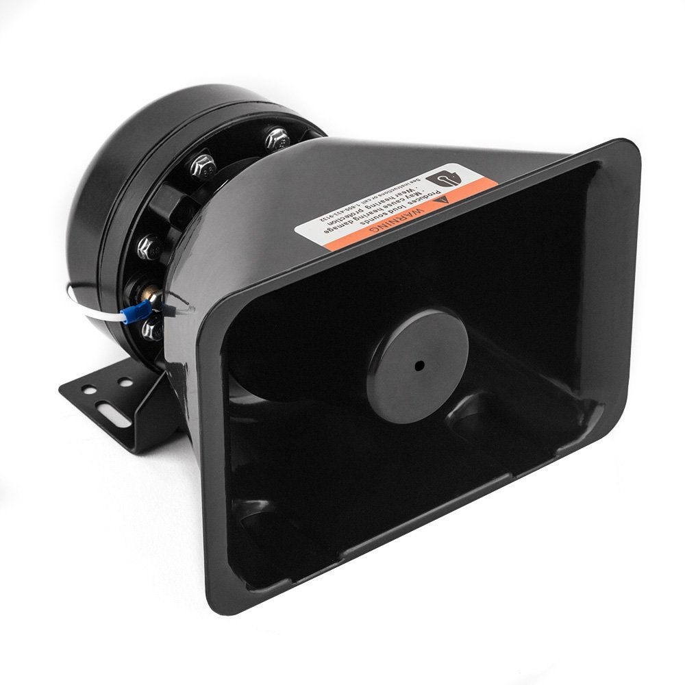 YHAAVALE 100W Siren Speaker Car Police Siren Black Plastic Square Speaker,DC12V,100W,Capable with Any 100 Watt Police Siren