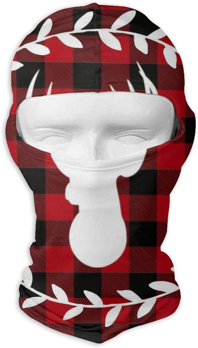 Gomop Ski Cap Christmas Deer Full Face Mask Wind-Resistant Face Mask