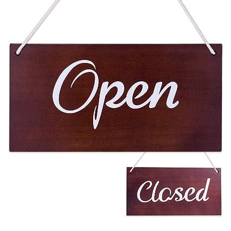 Amazon.com: WaaHome - Cartel abierto cerrado para negocios ...