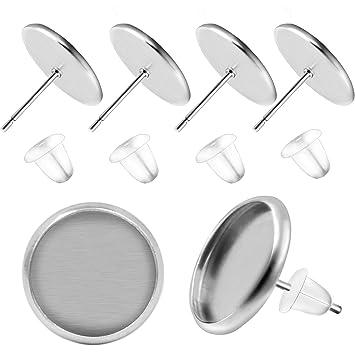 Amazon.com: BronaGrand - 50 pares de pendientes de acero ...