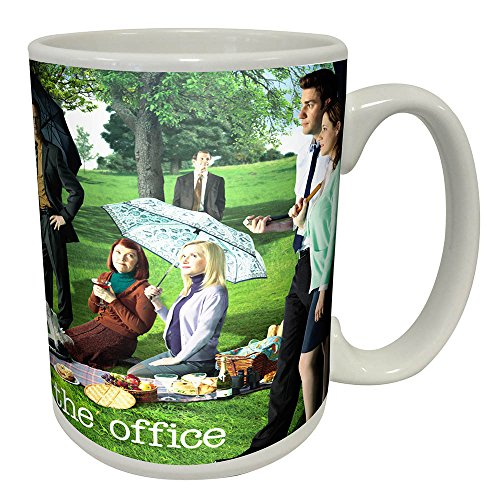The Office Georges Seurat Painting (Dunder Mifflin) Cast Group Workplace Comedy TV Television Show Coffee (Tea, Cocoa) Mug, 15 Ounce