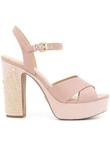 29cf64e0e Michael Kors Michael Women's 40R8sihs2d187 Pink Leather Sandals ...