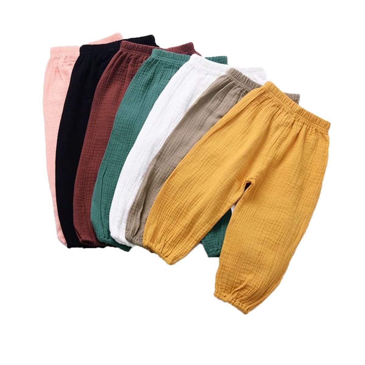 Geagodelia Pantalon de Sarouel /élastique pour b/éb/é gar/çon et Fille 6 /à 4 Dents