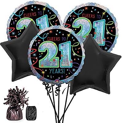 Amazon Costume SuperCenter 21st Birthday Balloon Bouquet Kit Toys Games