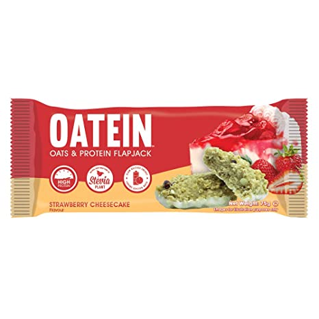 Oatein Flapjack Strawberry Cheesecake - Box of 12 by Oatein: Amazon.es: Salud y cuidado personal