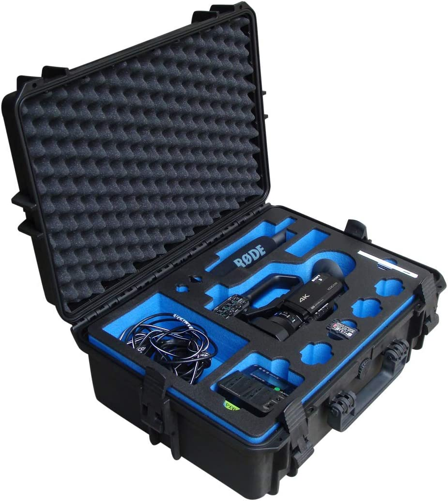 Professional Outdoor Case for Sony PXW-X70 PXW-Z90 or HRX-NX80 Camcorder 4 Batteries and Many Accessories Waterproof Transport Case IP67