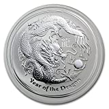 2012 AU Australia 2 oz Silver Year of the Dragon BU Silver Brilliant Uncirculated