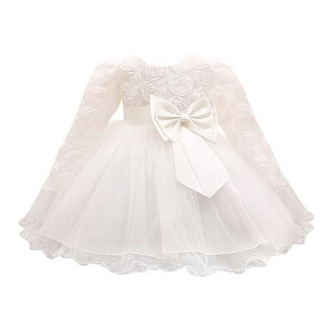 bellelove, vestido de manga larga niña, encaje princesa dama de ...