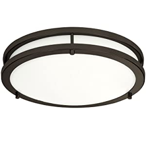 LB72166 LED Flush Mount Ceiling Light, Oil Rubbed Bronze, 16-Inch, 23W, (120W Equivalent), 5000K Daylight, 1610 Lumens, ETL & DLC Listed, Energy Star, Dimmable