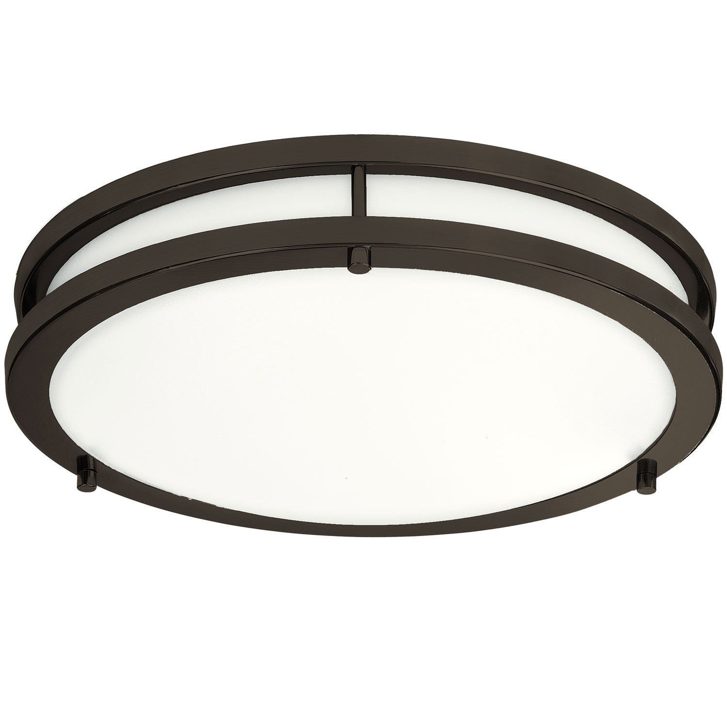 LB72160 12-inch LED Flush Mount Ceiling Light, Oil Rubbed Bronze, 5000K Daylight, 1050 Lumens, ETL & DLC Listed, Energy Star, Dimmable LED Ceiling Light