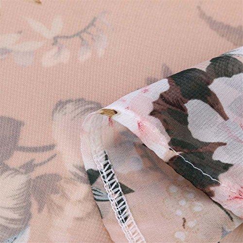 Donne Chiffon Stampa Floreale Senza Maniche Con Schienale Boho Casual Lungo Maxi Dress Senza Maniche Estate Primavera Prom Costume Mode Elegante Pizzo Chiffon Poliestere Cotone