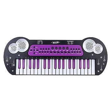 ammoon 37 Teclas Multifuncional Electrónica Música del Teclado Organo Piano Electone con Micrófono de Juguete Para