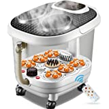 Foot SPA Bath Massager, Pamper Your Feet with Heat, Bubbles and Massaging Tools, Multifunction Vibrating Air Bubble Electric Foot Massager Foot Shiatsu