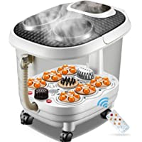 Foot SPA Bath Massager, Pamper Your Feet with Heat, Bubbles and Massaging Tools, Multifunction Vibrating Air Bubble…