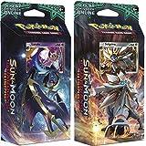 Pokemon TCG: Sun & Moon Guardians Rising, Bundle Of Two 60-Card Theme Decks Featuring A Holographic Solgaleo & Lunala