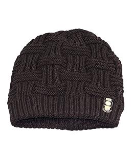 Shentesel Stylish Warm Hat Men's Fashion Winter Beanies Bonnet Knitted Hat Soft Solid Braid Warm Cap