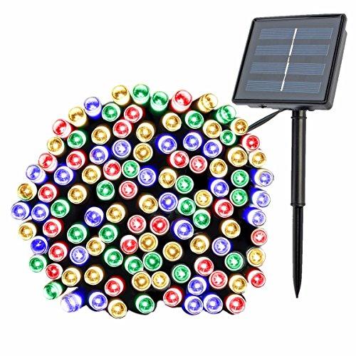 GLISTENY Solar Power Star String Lights 22m 200LED Beads ...