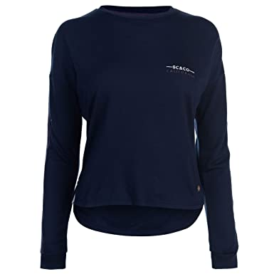 e8005588145 Soul Cal Womens Deluxe Stripe Crew Sweater Navy/Blue 16 (XL): Amazon.co.uk:  Clothing