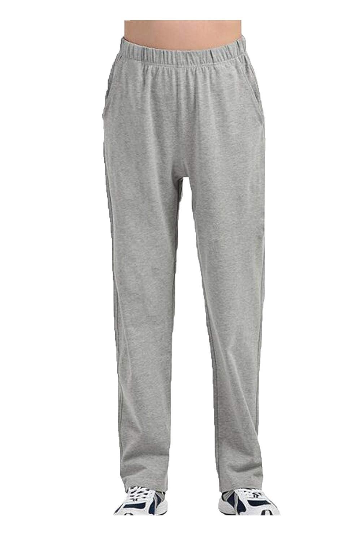 Zamtapary Men Cotton Pants Casual Loose Lightweight Sports Trousers