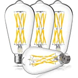 Dimmable Vintage 100 Watt LED Edison Light Bulb, DORESshop 10W ST64(ST21) Antique LED Filament Light Bulb, Warm White 2700K, 1000LM, E26 Base Squirrel-Cage Antique Lamp for Home Decor, 4Pack