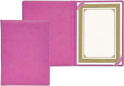 ملف لحفظ الشهادات مقاس A4 من الجلد الصناعي وصندوق هدية، بتصميم ايطالي حصري من اف اي اس - FSCLCERTPUVPU