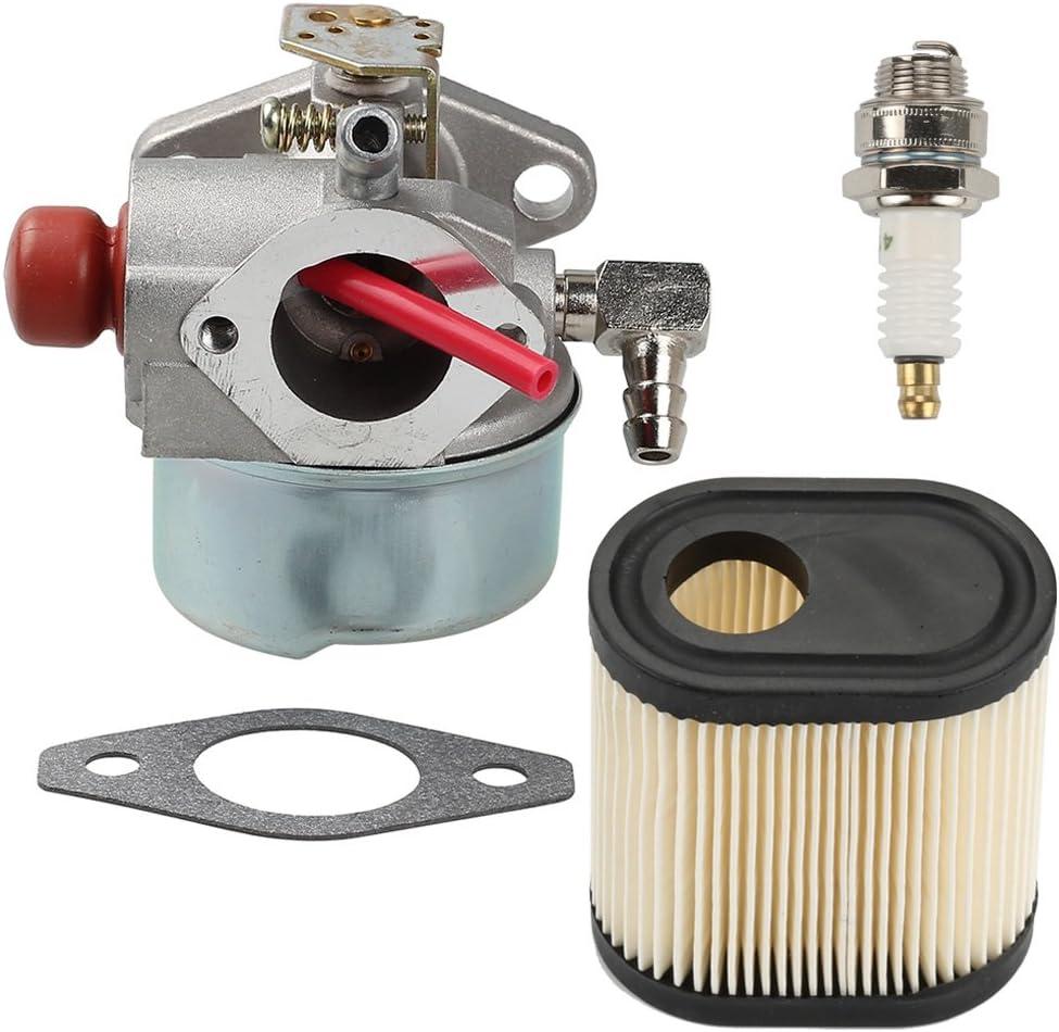 milttor 640350con filtro de aire y bujía para carburador para Tecumseh LEV100LEV105LEV120LV195EA LV195X A Carb 640303640271Motor cortacésped