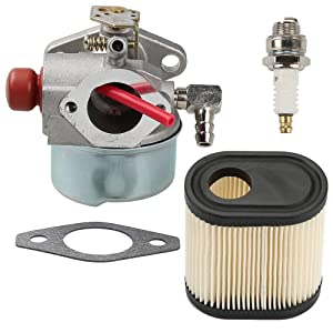 Milttor 640350 Carburetor with Air Filter Spark Plug for Tecumseh LEV100 LEV105 LEV120 LV195EA LV195XA Carb 640303 640271 Engine Lawn Mower