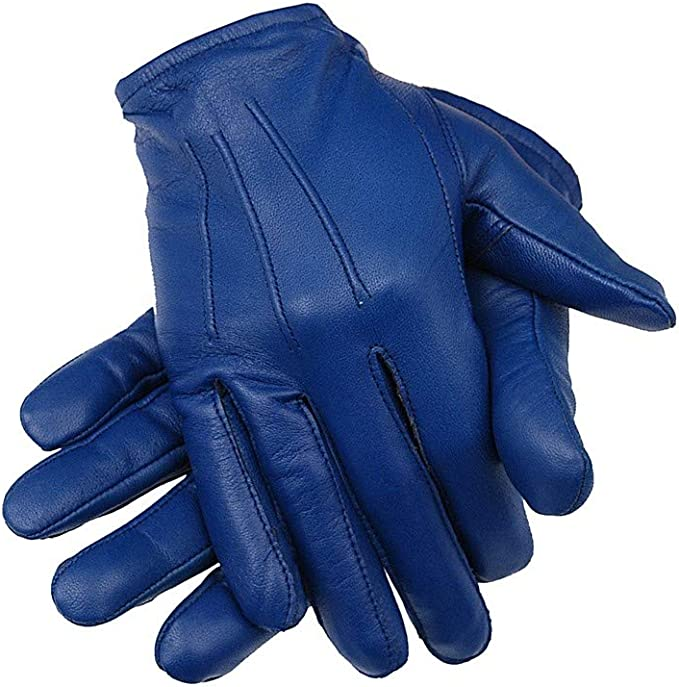 Ergonomic Cut leather Police driving gloves