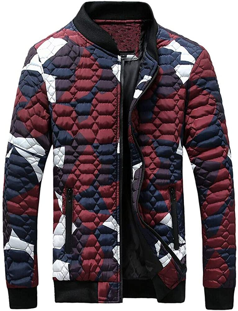 iLXHD Men Winter Camouflage Blouse Thickening Coat Pullover Shirt Top Blouse