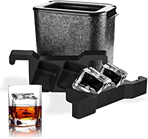 ROTTAY Clear Ice Cube Trays - Crystal Clear Ice Cube Mold - Square Ice Cube Maker Large Ice Cube for Whiskey, Cocktail, Brandy (Cubes)